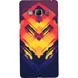 Oyehoye Samsung Galaxy Z3 Mobile Phone Back Cover With Abstract Art - Durable Matte Finish Hard Plastic Slim Case
