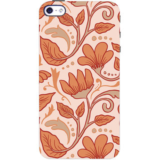 Oyehoye Apple iPhone 4S Mobile Phone Back Cover With Floral Pattern Style - Durable Matte Finish Hard Plastic Slim Case