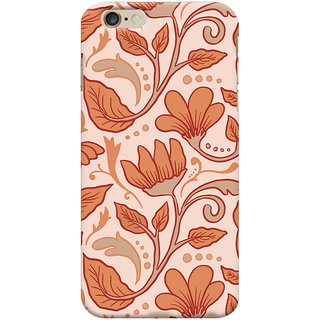 Oyehoye Apple iPhone 6S Plus Mobile Phone Back Cover With Floral Pattern Style - Durable Matte Finish Hard Plastic Slim Case