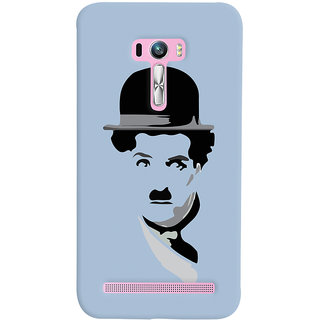Oyehoye Asus Zenfone Selfie ZD551KL Mobile Phone Back Cover With Charlie Chaplin Minimal Style - Durable Matte Finish Hard Plastic Slim Case