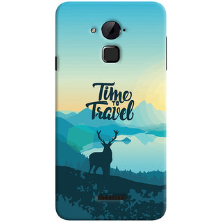 Oyehoye Coolpad Note 3 Lite Mobile Phone Back Cover With Travel Quote Travellers Choice - Durable Matte Finish Hard Plastic Slim Case