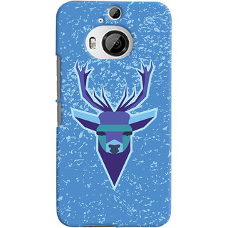 Oyehoye HTC One M9 Plus Mobile Phone Back Cover With Animal Design Modern Art - Durable Matte Finish Hard Plastic Slim Case