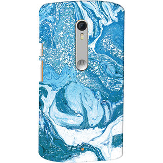 Oyehoye Motorola Moto X Style Mobile Phone Back Cover With Abstract Art - Durable Matte Finish Hard Plastic Slim Case