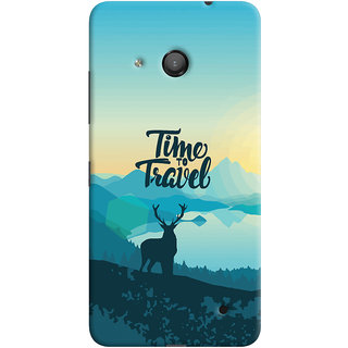 Oyehoye Microsoft Lumia 550 Mobile Phone Back Cover With Travel Quote Travellers Choice - Durable Matte Finish Hard Plastic Slim Case