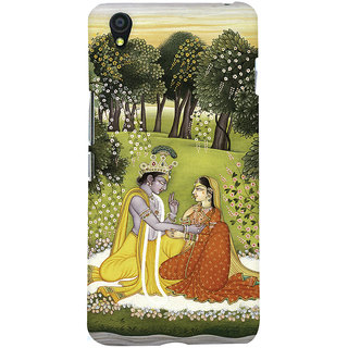 Oyehoye OnePlus X Mobile Phone Back Cover With Vintage Radhe Krishna Art - Durable Matte Finish Hard Plastic Slim Case