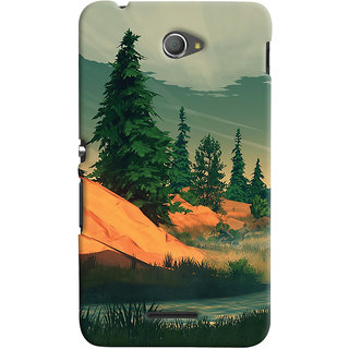 Oyehoye Sony Xperia E4 Mobile Phone Back Cover With Nature Landscape Travellers Choice - Durable Matte Finish Hard Plastic Slim Case
