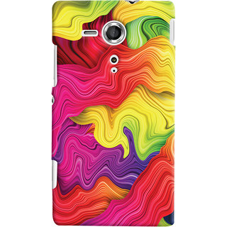Oyehoye Sony Xperia SP Mobile Phone Back Cover With Colourful Pattern Style - Durable Matte Finish Hard Plastic Slim Case
