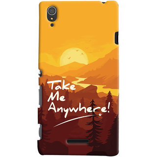 Oyehoye Sony Xperia T3 Mobile Phone Back Cover With Take Me Anywhere Travellers Choice - Durable Matte Finish Hard Plastic Slim Case
