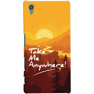 Oyehoye Sony Xperia Z5 Mobile Phone Back Cover With Take Me Anywhere Travellers Choice - Durable Matte Finish Hard Plastic Slim Case