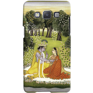 Oyehoye Samsung Galaxy A5 (2015) Mobile Phone Back Cover With Vintage Radhe Krishna Art - Durable Matte Finish Hard Plastic Slim Case