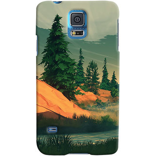 Oyehoye Samsung Galaxy S5 Mobile Phone Back Cover With Nature Landscape Travellers Choice - Durable Matte Finish Hard Plastic Slim Case