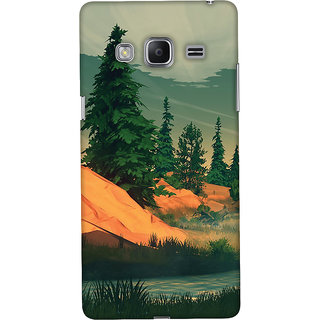 Oyehoye Samsung Galaxy Z3 Mobile Phone Back Cover With Nature Landscape Travellers Choice - Durable Matte Finish Hard Plastic Slim Case