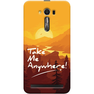Oyehoye Asus Zenfone 2 Laser ZE550KL / Zenfone 5.5 Mobile Phone Back Cover With Take Me Anywhere Travellers Choice - Durable Matte Finish Hard Plastic Slim Case