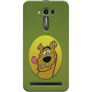 Oyehoye Asus Zenfone 2 Laser ZE550KL / Zenfone 5.5 Mobile Phone Back Cover With Scooby Doo - Durable Matte Finish Hard Plastic Slim Case