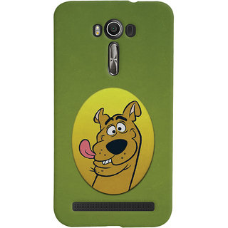 Oyehoye Asus Zenfone 2 Laser ZE601KL Mobile Phone Back Cover With Scooby Doo - Durable Matte Finish Hard Plastic Slim Case