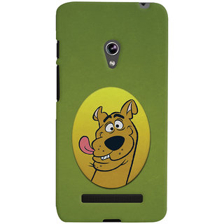 Oyehoye Asus Zenfone 5 Mobile Phone Back Cover With Scooby Doo - Durable Matte Finish Hard Plastic Slim Case