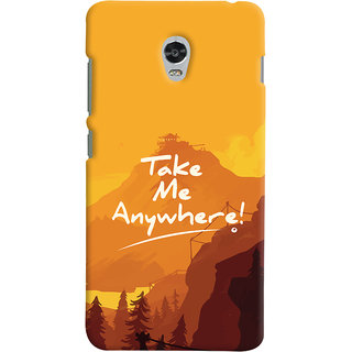 Oyehoye Lenovo Vibe P1 Mobile Phone Back Cover With Take Me Anywhere Travellers Choice - Durable Matte Finish Hard Plastic Slim Case