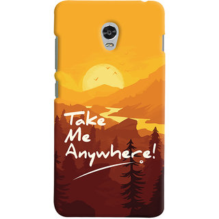 Oyehoye Lenovo Vibe P1 Turbo Mobile Phone Back Cover With Take Me Anywhere Travellers Choice - Durable Matte Finish Hard Plastic Slim Case