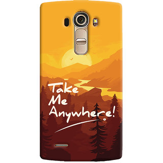Oyehoye LG G4 H818N Mobile Phone Back Cover With Take Me Anywhere Travellers Choice - Durable Matte Finish Hard Plastic Slim Case