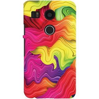 Oyehoye LG Google Nexus 5X New (2016 Edition) Mobile Phone Back Cover With Colourful Pattern Style - Durable Matte Finish Hard Plastic Slim Case