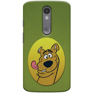 Oyehoye Motorola Moto X Force Mobile Phone Back Cover With Scooby Doo - Durable Matte Finish Hard Plastic Slim Case