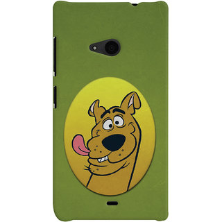 Oyehoye Microsoft Lumia 535 / Dual Sim Mobile Phone Back Cover With Scooby Doo - Durable Matte Finish Hard Plastic Slim Case