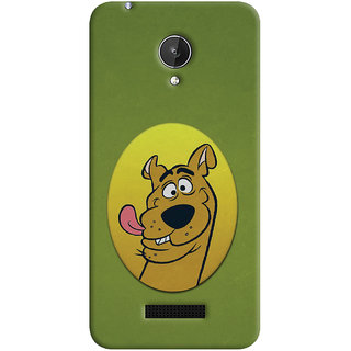 Oyehoye Micromax Canvas Spark Q380 Mobile Phone Back Cover With Scooby Doo - Durable Matte Finish Hard Plastic Slim Case