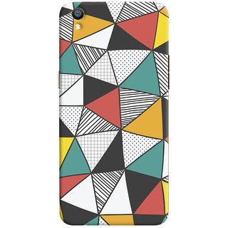 Oyehoye Oppo F1 Plus Mobile Phone Back Cover With Abstract Style Modern Art - Durable Matte Finish Hard Plastic Slim Case