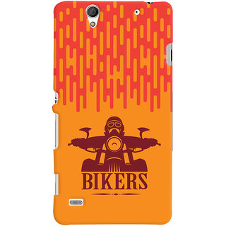 Oyehoye Sony Xperia C4 / Dual Sim Mobile Phone Back Cover With Bikers Style - Durable Matte Finish Hard Plastic Slim Case
