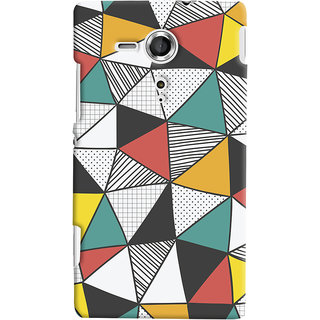 Oyehoye Sony Xperia SP Mobile Phone Back Cover With Abstract Style Modern Art - Durable Matte Finish Hard Plastic Slim Case