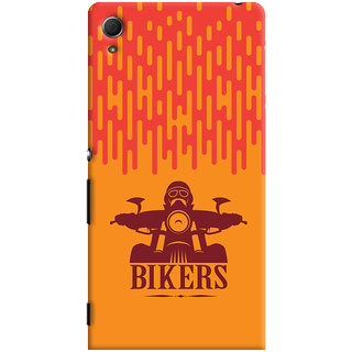 Oyehoye Sony Xperia Z4 Mobile Phone Back Cover With Bikers Style - Durable Matte Finish Hard Plastic Slim Case