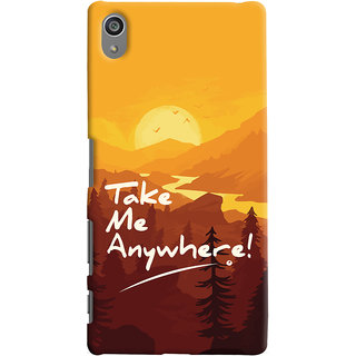 Oyehoye Sony Xperia Z5 Plus/ Z5 Premium Mobile Phone Back Cover With Take Me Anywhere Travellers Choice - Durable Matte Finish Hard Plastic Slim Case