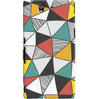 Oyehoye Sony Xperia Z Mobile Phone Back Cover With Abstract Style Modern Art - Durable Matte Finish Hard Plastic Slim Case