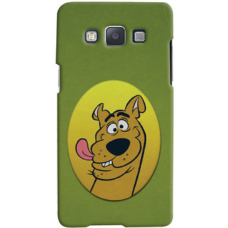 Oyehoye Samsung Galaxy A7 (2015) Mobile Phone Back Cover With Scooby Doo - Durable Matte Finish Hard Plastic Slim Case