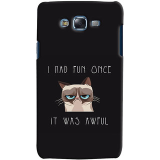 Oyehoye Samsung Galaxy J5 Mobile Phone Back Cover With Quirky Style - Durable Matte Finish Hard Plastic Slim Case