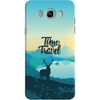 Oyehoye Samsung Galaxy J7 (2016) Mobile Phone Back Cover With Travel Quote Travellers Choice - Durable Matte Finish Hard Plastic Slim Case