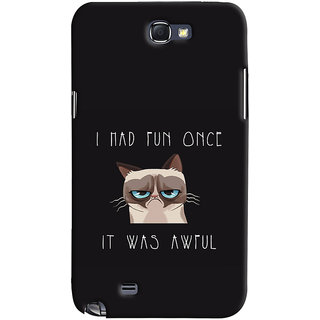 Oyehoye Samsung Galaxy Note 2 Mobile Phone Back Cover With Quirky Style - Durable Matte Finish Hard Plastic Slim Case