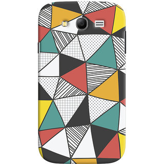 Oyehoye Samsung Galaxy Grand Neo Plus Mobile Phone Back Cover With Abstract Style Modern Art - Durable Matte Finish Hard Plastic Slim Case