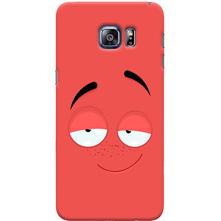 Oyehoye Samsung Galaxy S6 Edge Plus Mobile Phone Back Cover With Smiley Drunk Or Tipsy Expression - Durable Matte Finish Hard Plastic Slim Case