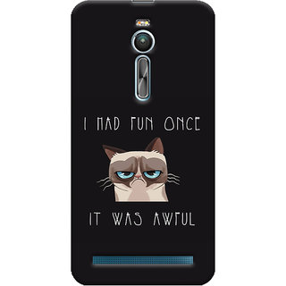 Oyehoye Asus Zenfone 2 ZE550ML Mobile Phone Back Cover With Quirky Style - Durable Matte Finish Hard Plastic Slim Case