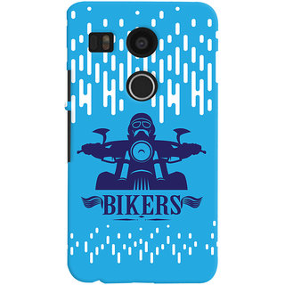 Oyehoye LG Google Nexus 5X New (2016 Edition) Mobile Phone Back Cover With Bikers Style - Durable Matte Finish Hard Plastic Slim Case