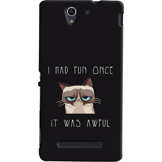 Oyehoye Sony Xperia C3 / Dual Sim Mobile Phone Back Cover With Quirky Style - Durable Matte Finish Hard Plastic Slim Case