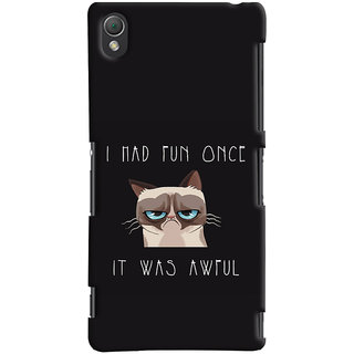 Oyehoye Sony Xperia Z3 Compact / Mini Mobile Phone Back Cover With Quirky Style - Durable Matte Finish Hard Plastic Slim Case