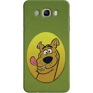 Oyehoye Samsung Galaxy J5 (2016) Mobile Phone Back Cover With Scooby Doo - Durable Matte Finish Hard Plastic Slim Case