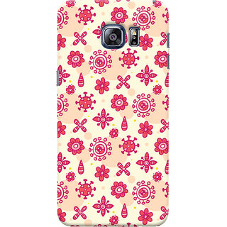 Oyehoye Samsung Galaxy S6 Edge Mobile Phone Back Cover With Floral Pattern - Durable Matte Finish Hard Plastic Slim Case