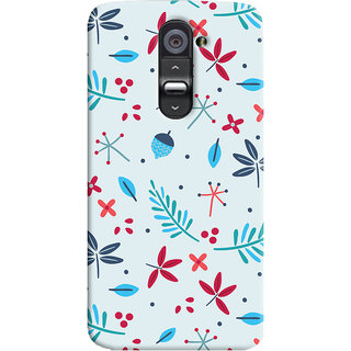 Oyehoye LG G2 / Optimus G2 Mobile Phone Back Cover With Floral Pattern - Durable Matte Finish Hard Plastic Slim Case