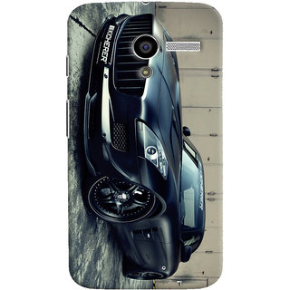 Oyehoye Motorola Moto X Mobile Phone Back Cover With Kicherer Mercedes-Benz Car - Durable Matte Finish Hard Plastic Slim Case