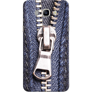 Oyehoye Samsung Galaxy J7 (2016) Mobile Phone Back Cover With Denim Look - Durable Matte Finish Hard Plastic Slim Case