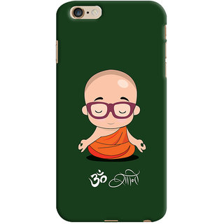 Oyehoye Apple iPhone 6 Plus Mobile Phone Back Cover With Om Shanti Quirky - Durable Matte Finish Hard Plastic Slim Case