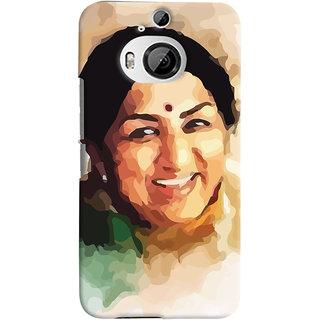 Oyehoye HTC One M9 Plus Mobile Phone Back Cover With Lata Mangeshkar - Durable Matte Finish Hard Plastic Slim Case